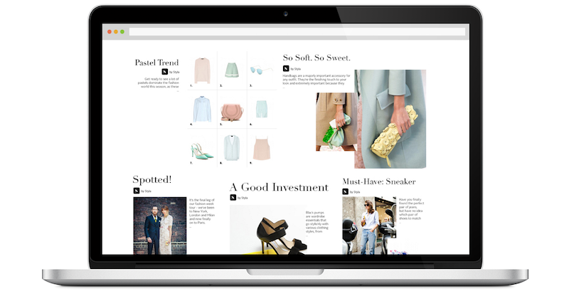 Styla shopable content